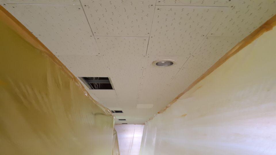 6 번째 사진  에  연면적99.7 ㎡ 부산시 북구 화명동 화명고등학교 교실 일부 석면텍스 철거