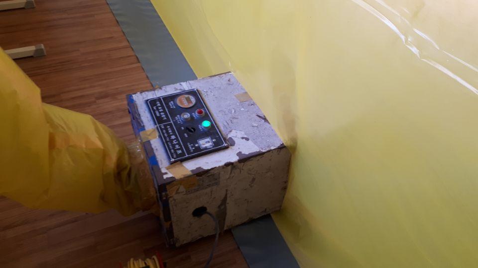 8 번째 사진  에  연면적99.7 ㎡ 부산시 북구 화명동 화명고등학교 교실 일부 석면텍스 철거