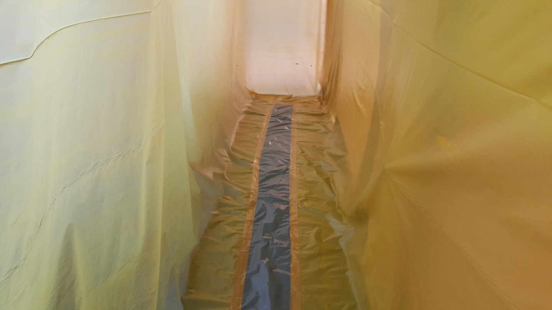 7 번째 사진  에  연면적 ㎡ 영도구 동삼초등학교 배관공사를 위해 석면철거