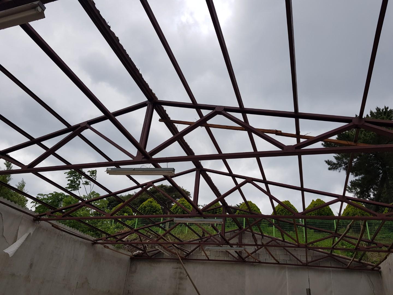 12 번째 사진  에  연면적243 ㎡ 경남 창녕군 대지면 슬레이트 지붕 석면처리 현장