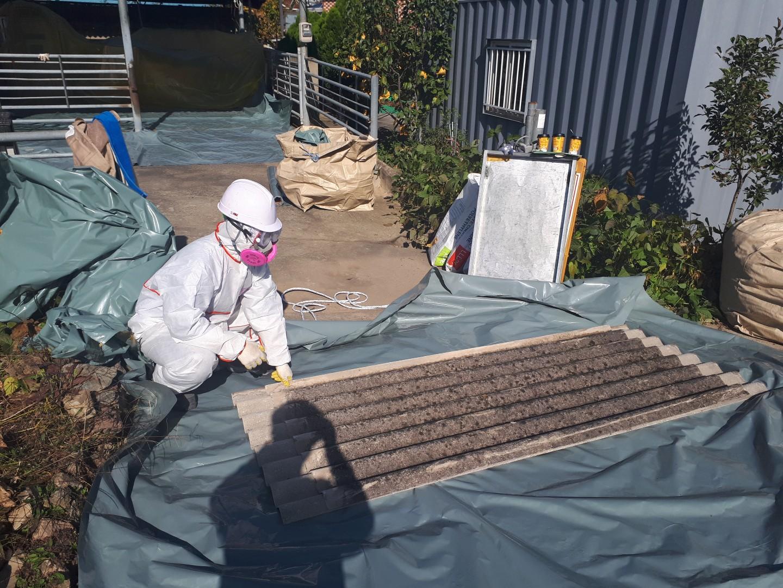 13 번째 사진  에  연면적44 ㎡ 경상남도 밀양시 청도면 축사 슬레이트지붕 석면처리
