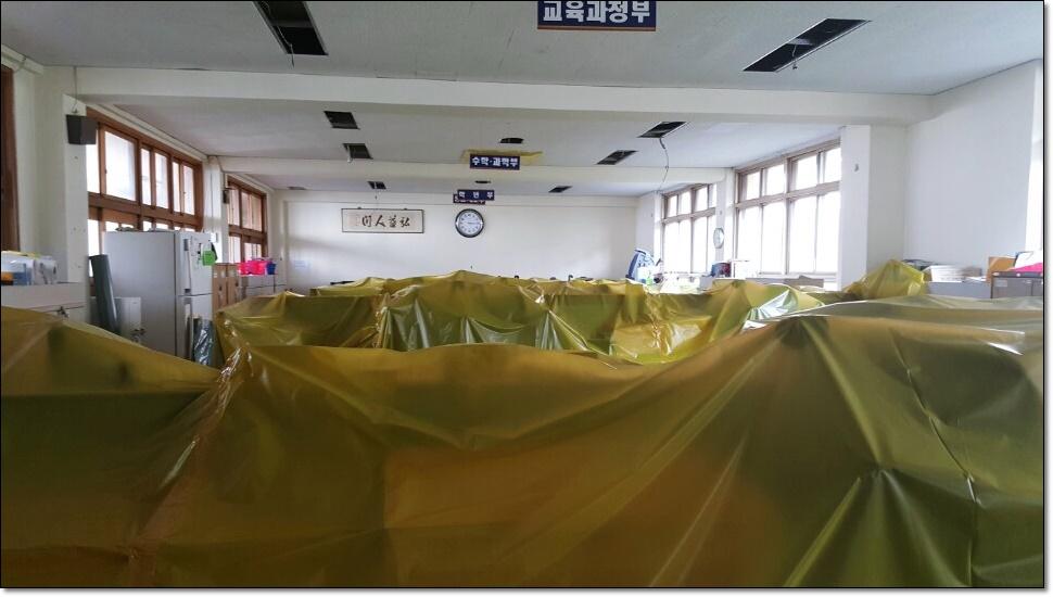 7 번째 사진  에  연면적100 ㎡ 부산 사상구 중학교 석면철거
