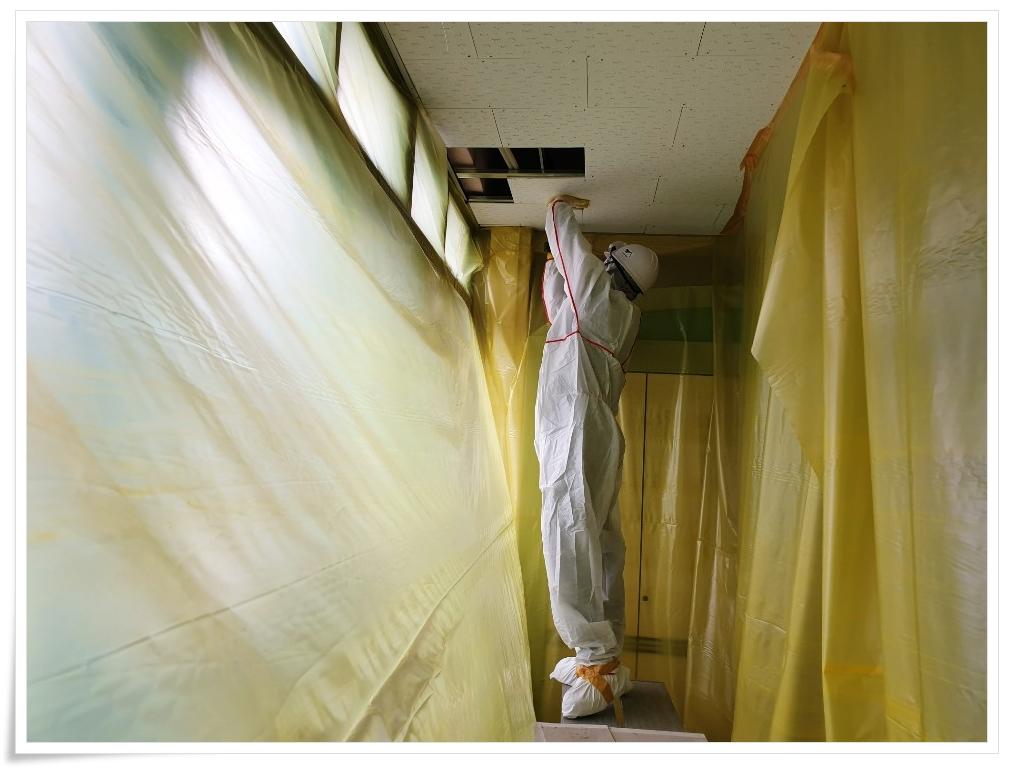 7 번째 사진  에  연면적 ㎡ 사하구 감천초등학교 병설유치원 석면 해체 공사