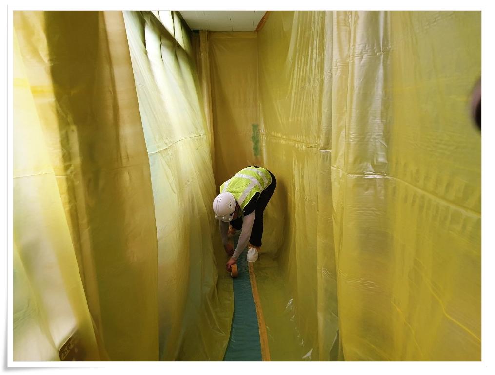 10 번째 사진  에  연면적 ㎡ 사하구 감천초등학교 병설유치원 석면 해체 공사