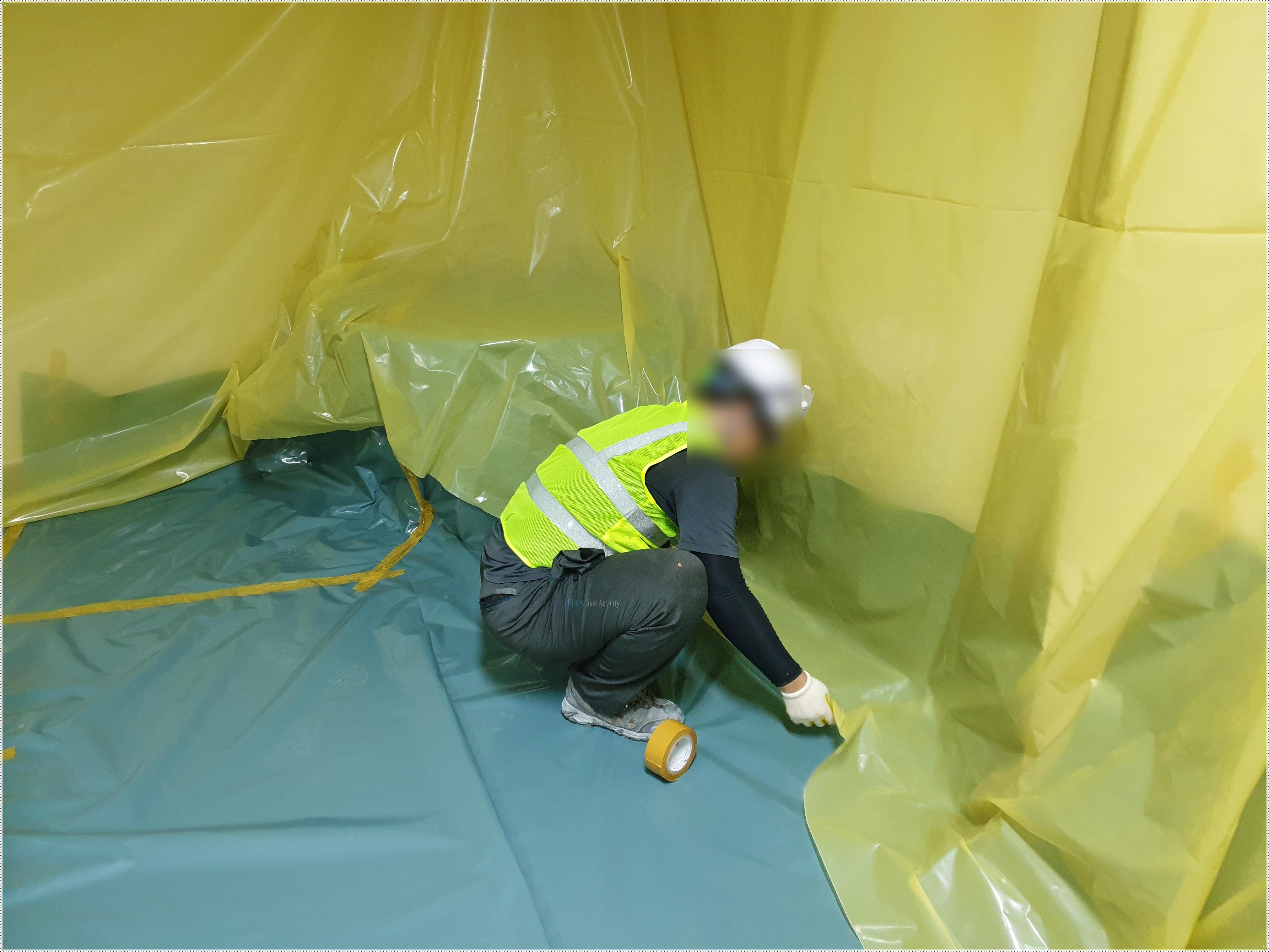 9 번째 사진  에  연면적 ㎡ 영도구 행정복지센터 석면 텍스 해체
