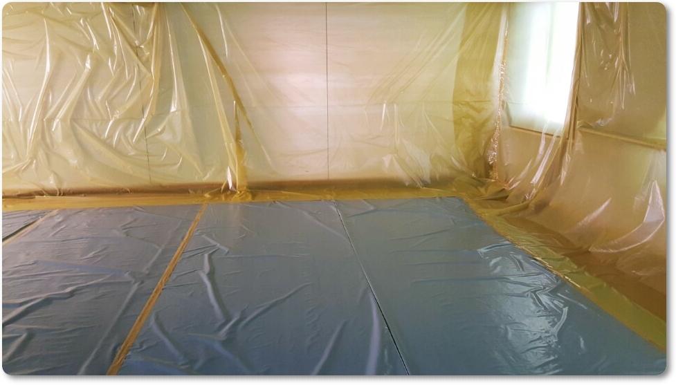 1 번째 사진  에  연면적 ㎡ 중학교 천장 석면 해체 현장 (경기도 수원시)
