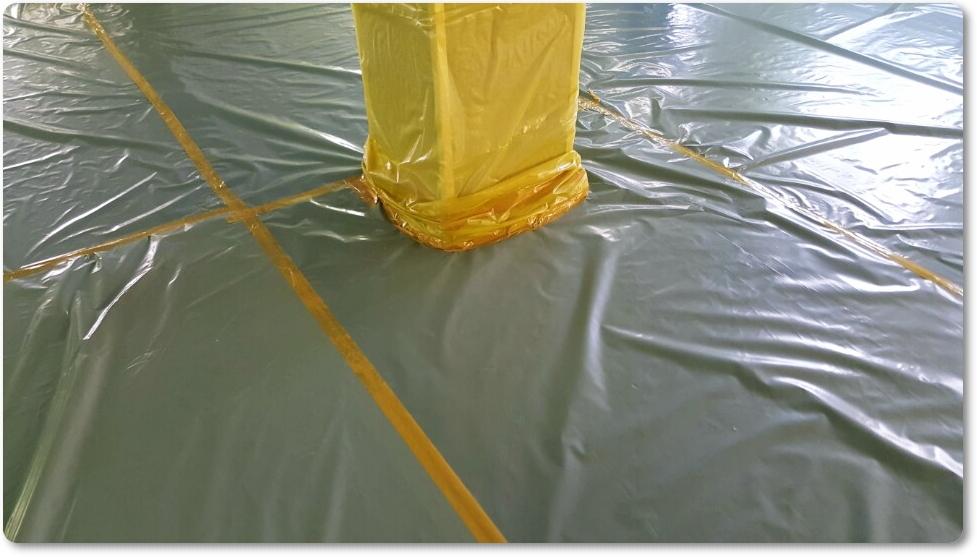2 번째 사진  에  연면적 ㎡ 중학교 천장 석면 해체 현장 (경기도 수원시)