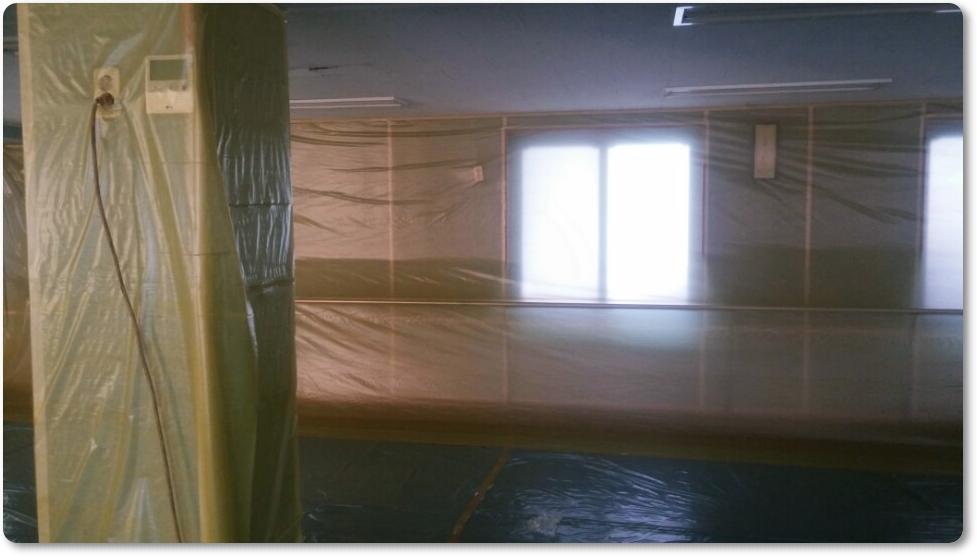 9 번째 사진  에  연면적 ㎡ 중학교 천장 석면 해체 현장 (경기도 수원시)