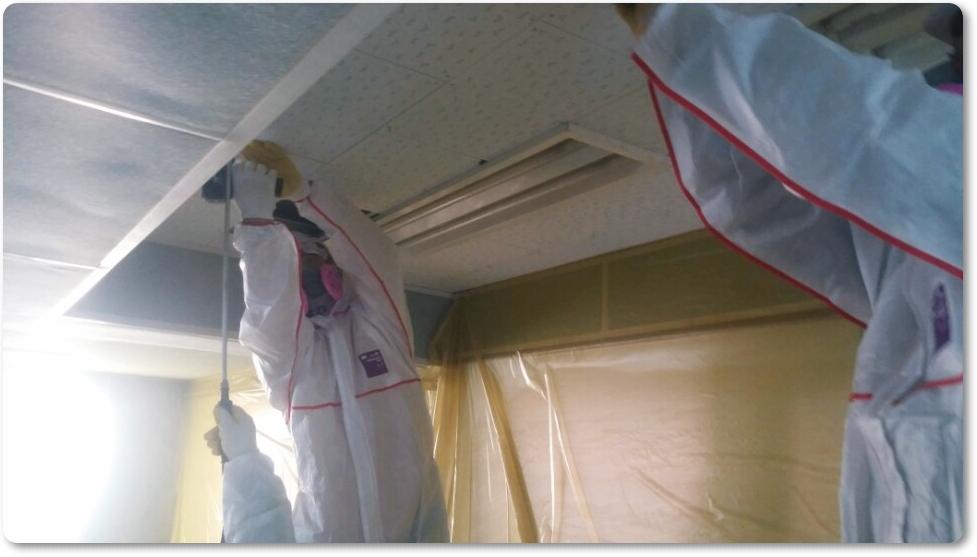 16 번째 사진  에  연면적 ㎡ 중학교 천장 석면 해체 현장 (경기도 수원시)