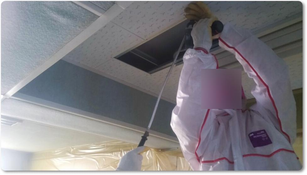 20 번째 사진  에  연면적 ㎡ 중학교 천장 석면 해체 현장 (경기도 수원시)