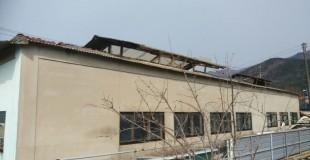 울준군 월평리 축사 슬레이트지붕 철거현장