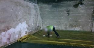 뿜칠 석면 해체작업 현장 (서울) 첫번째 보양작업