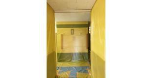 브니엘예술고등학교 화장실 밤라이트, 석면텍스 해체 작업
